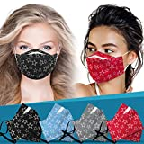 Adults Mouth Face Protective Gear, 3D Fish Shape Adjustable Earloop Reusable Washable Dust Proof Cotton Cloth Covering (4 Colors, 4 Pcs)