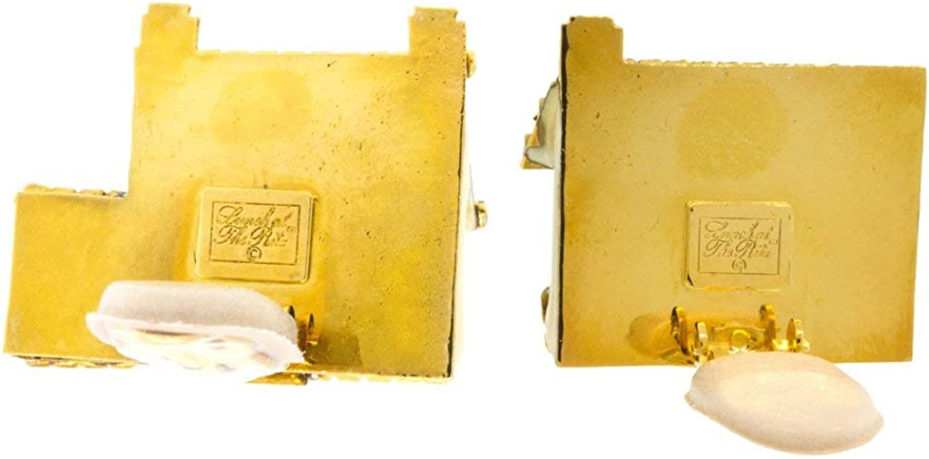 Lunch At The Ritz Real Estate Houses for Sale Dream Home Clip Earrings (Goldtone) Rare from Esme's Vault