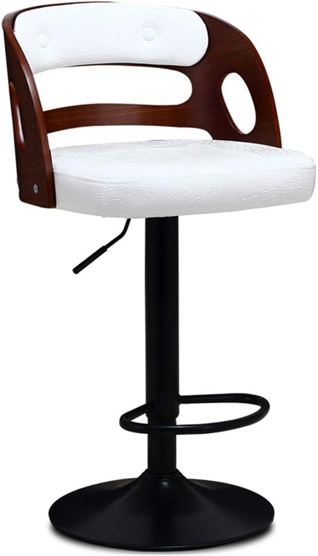 Barstools Chair Footrest Barstools Chair Footrest with PU Seat Backrest Adjustable Swivel Gas Lift 5474cm for Restaurant Pub   Café Bar Stool Black Metal Base Max. Load 150 kg Weight 8KG