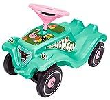 BIG- Bobby Car Classic Tropic Flamingo-Kinderfahrzeug mit Aufklebern im Tropischen Stil für Jungen und Mädchen, belastbar bis zu 50 kg Cl, Colore Turchese, 800056118