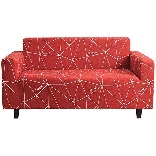 XHHXPY Funda para Sofá Elasticas de 1 2 3 4 Plazas Impresión Poliéster Suave Antideslizante Protector Cubierta de Muebles con Cuerda de Fijación,Style g,4 Seater