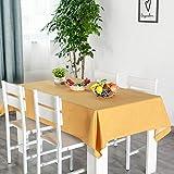 WSJIABIN Einfache wasserdichte und ölbeständige Einweg-Tischdecke aus Baumwoll-Leinen, rechteckig, rund, wasserdicht und gegen Eindringen