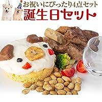 犬用 無添加 ケーキ(誕生日 セット)誕生日ケーキ ご飯 おやつ 4点入