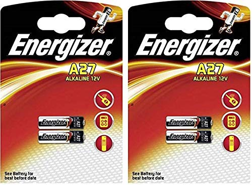 LOT DE 4 PILES ENERGIZER A27 - 2 BLISTER A 2 PILES - ALCALINE 12V