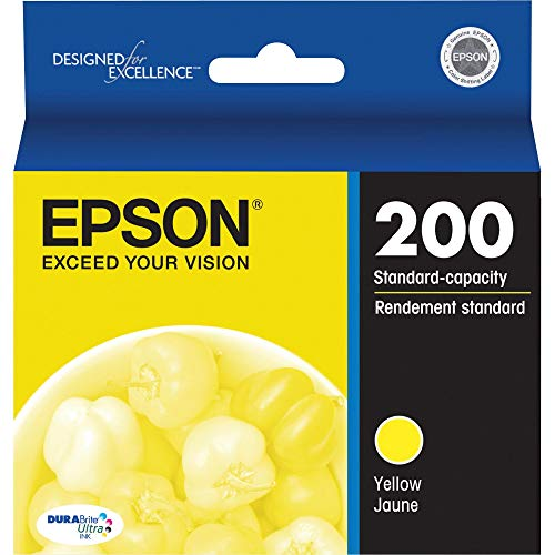 EPSON T200 DURABrite Ultra Ink Standard Capacity Yellow Cartridge (T200420) for select Epson Expression and WorkForce Printers