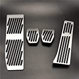 HZHAOWEI Pedales de Freno de Gas del Acelerador Antideslizante del Coche.para BMW 1 3 Series X1 E39 E46 E87 E90 E91 E92-Silver 4 Piezas para MT