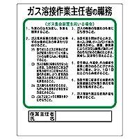 【356-14】作業主任者職務板 ガス溶接・ガス集合装