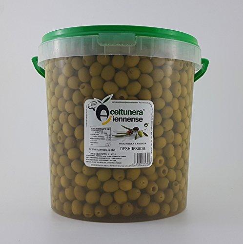 Aceituna Manzanilla Sabor Anchoa Deshuesada | Aceitunera Jiennense | Cubo 11 kgs (Peso neto )