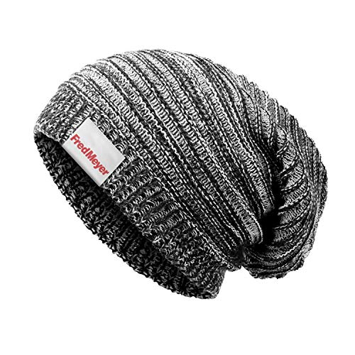 FKODRFMB Slouchy Beanie Hat for Men Women Fred-Meyer-Logo- Baggy Beanie Hats Oversized Knit Cap