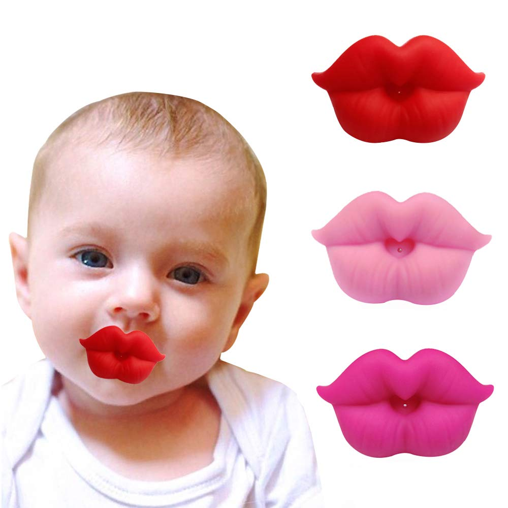 3pcs Infant Pacifier Funny Lips Soft Silicone Ranking TOP15 Baby Pacifiers C Large discharge sale