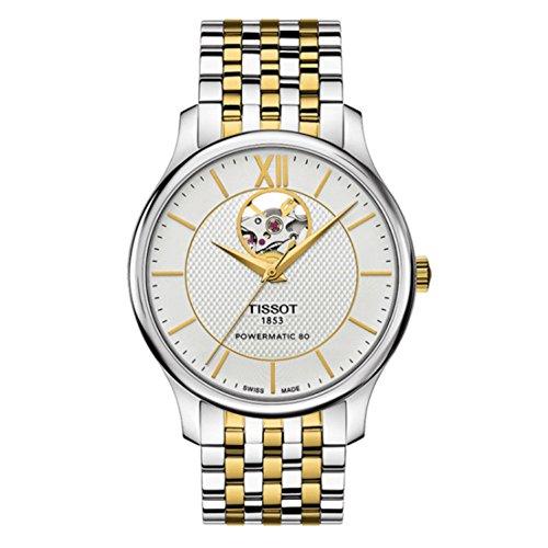 Tissot Herren-Uhren Analog One Size Silber/Gold Edelstahl 32000730