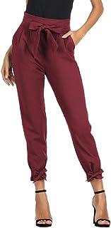 Amazon Es Rojo Pantalones Mujer Ropa