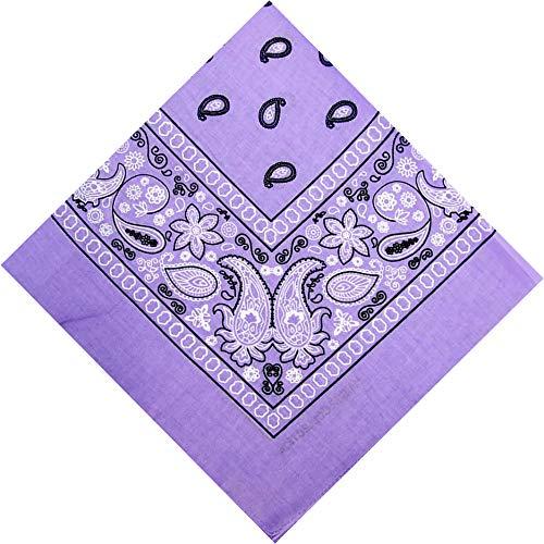 CD Single Pack Bandana | 100% Cotton| Handkerchiefs, Headbands for Men and Women (Lavender)