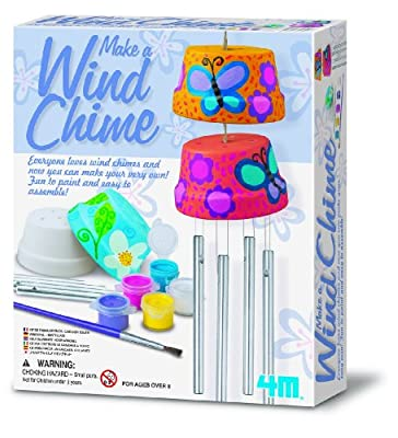 4M Make A Wind Chime Kit - Arts & Crafts Construct & Paint A Wind Powered Musical Chime DIY Gift for Kids, Boys & Girls