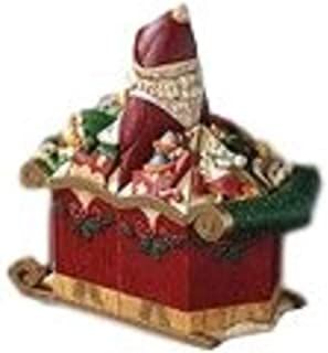 Enesco Pillars Santa's Sleigh 9-Piece Musical Set, 9.25-Inch