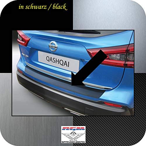 Richard Grant Mouldings Ltd. RGM Protection de seuil de chargement pour Nissan Qashqai SUV 2ème génération Break à partir de Facelift année de construction 03.2017 RBP696 Noir
