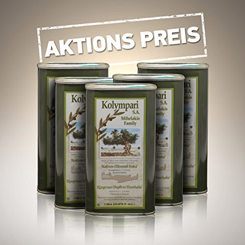 Kolympari - Natives Olivenöl Extra 5 x 1 Liter aus Kreta