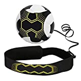 Football Kick Trainer,Soccer Training Aid , Football Skills Improvement Soccer Skill Practice Football Training Equipment for Adults Kids with Adjustable Belt Elastic Rope Fits Ball 3, 4,and 5