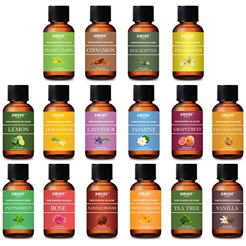 Aromatherapy 100% Pure Therapeutic 16 - Piece High Grade Essential-Oils