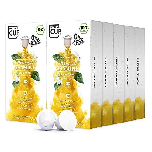 My Tea Cup - TEEKAPSELN PRINCESS JASMINE 10 x 10 KAPSELN I BIO-GRÜNTEE I 100 Kapseln für Nespresso®³-Kapselmaschinen I 100% industriell kompostierbare & nachhaltige Teekapseln – 0% Aluminium