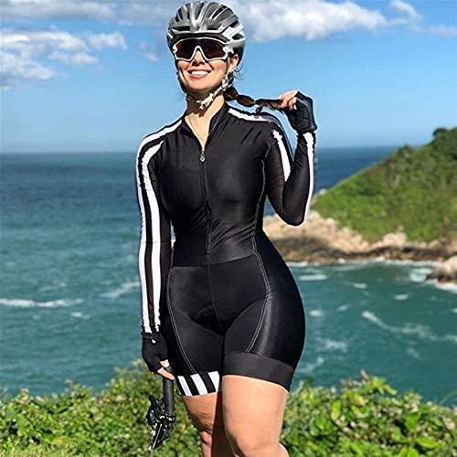 Monos de triatlón de bicicleta para mujer Conjuntos de jersey de bicicleta Mono de manga larga Conjuntos de jersey de ciclismo para mujer (Color : 9, Size : XS)
