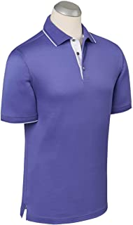 Bobby Jones Mens Lux Mercerized Solid Tailored Golf Polo Shirt