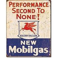 ブリキ看板 NEW Mobilgas 1725 モービル ティンプレート サインプレート