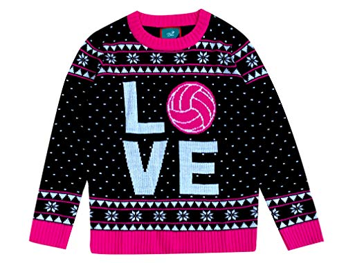 Green Turtle Pull de noël Volley Ball Fille Christmas Ugly Sweater Femme Volleyball X-Small Multicolor