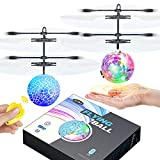 Flying Ball Toys,2 Pack LEDRC Toy for Kids Boys Girls Gifts Rechargeable Light Up Ball Drone Infrared Induction Helicopterwith 2 Remote Controller for Indoor and Outdoor Games