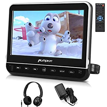 pumpkin 10.1 Inch Headrest Car DVD Player with Free Headphone Support 1080P Video HDMI Input AV in Out Region Free USB SD Mounting Brackets Included