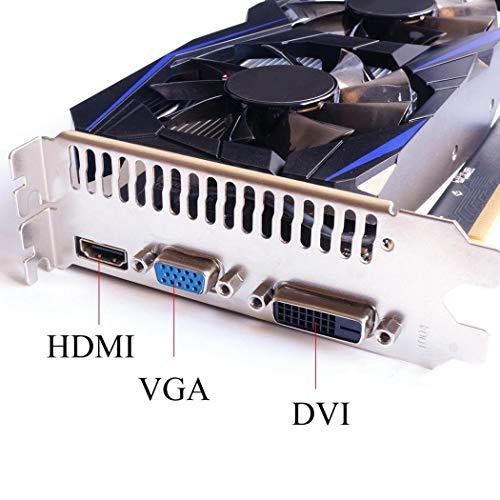 Oldhorse Tarjeta Grafica GeForce GTX 750TI 4G DDR5 128Bit Graphics Card para Gaming Videojuegos Accesorios de informática