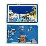 Fockety Módulo LCD de retroiluminación, 800X480 Pantalla táctil TFT LCD Módulo de Pantalla LCD, para Bricolaje Arduino Home Office