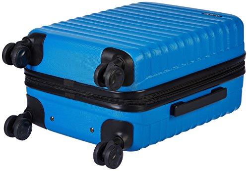 Amazon Basics - Valigia Trolley rigido, 55 cm (utilizzabile come bagaglio a mano di dimensioni standard), Blu chiaro