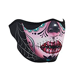 ZANheadgear® Neoprene Half Face Mask Muerte Skull WNFM413H Cold Weather Gear