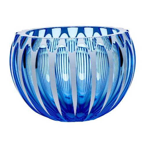 "MOSER CRYSTAL CENTURY BOWLS Bowl 9.8""d cut aquamarine"