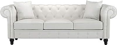 Amazon.com: Divano Roma Furniture Velvet Scroll Arm Tufted ...