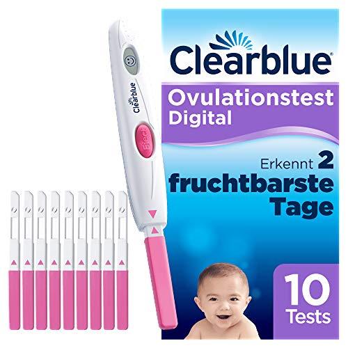 Clearblue Kinderwunsch Ovulationstest Digital - Fruchtbarkeitstest für Eisprung, 10 Tests
