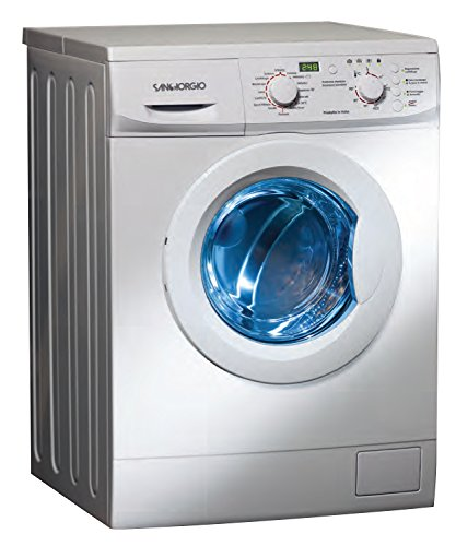 SanGiorgio SES710D Lavatrice con caricamento frontale 7kg (1000 RPM A ++ ,Libera installazione, Pulsanti, Rotante, Sinistra), Bianco