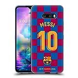 Head Hülle Designs Offizielle FC Barcelona Lionel Messi 2019/20 Spieler Home Kit Gruppe 1 Soft Gel Handyhülle Hülle Huelle kompatibel mit LG G8X ThinQ