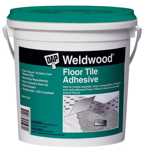 Dap 00136 Weldwood Floor Tile Adhesive, 1-Quart,Clear