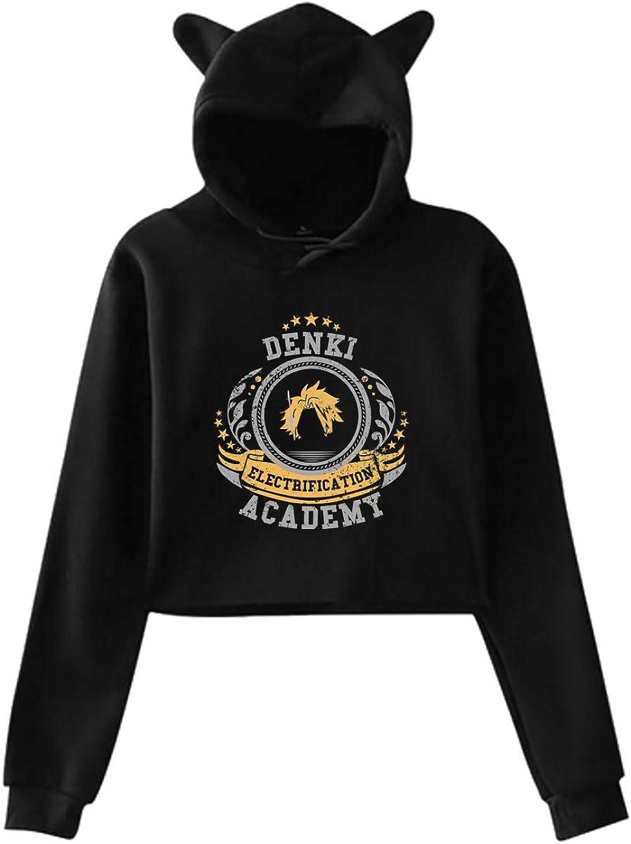 Hero Academi-a - Eri Womens Hoodie Cat Ear Crop Top Pullover Hooded Sweatshirts