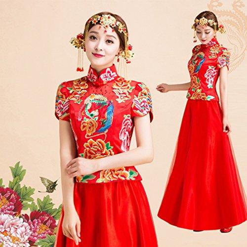 BAI Wedding Dress Picture Novia China Vestido de Novia de Color Rojo...