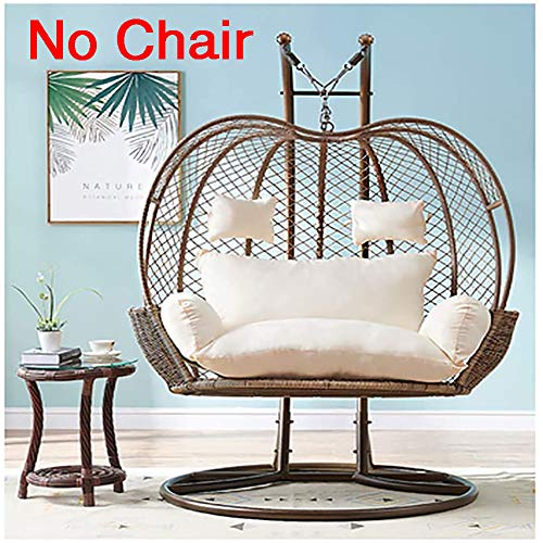 CAIXIN Thick Hanging Hammock Nest Egg Swing Chair Cushion,seat Cushioning Pad For Indoor Outdoor Patio Backyard Double Zipper No Chair-creamy-white 110x150cm(43x59inch)