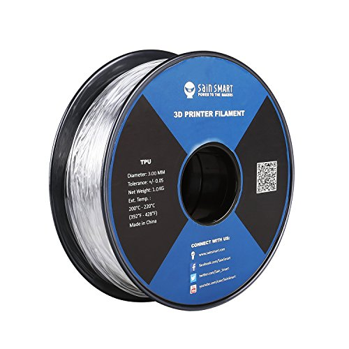 SainSmart Filament für 3D-Druck, 3 mm, 1 kg, Violett / Grün / Transparent / Rot