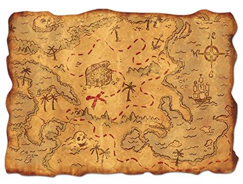 Beistle Plastic Treasure Map Party Zubehör (1 Stück) (1 / Pkg)