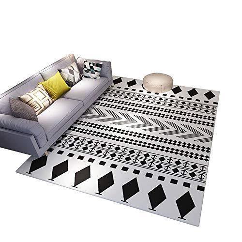 Eenvoudige moderne Scandinavische stijl Europese woonkamer salontafel tapijt slaapkamer tapijt dikke tapijt bed deken