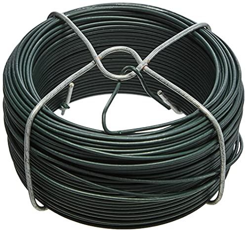 GAH-Alberts 530129 Drahtspule | verzinkt, grün kunststoffbeschichtet | Draht-Ø 1,4 mm | Länge 50 m