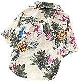 Ropa Perro del Verano del Perro Camisas de algodón de Manga Corta for Mascotas Beach Perrito del Chaleco Animales Ropa Floral Camiseta Tops de Hawai SLZFLSSHPK (Color : Scarlet, Size : X-Large)