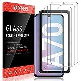 mascheri pellicola per samsung galaxy a70 schermo protettivo, [3 pezzi] protezione vetro temperato galaxy a70 protettiva - trasparente