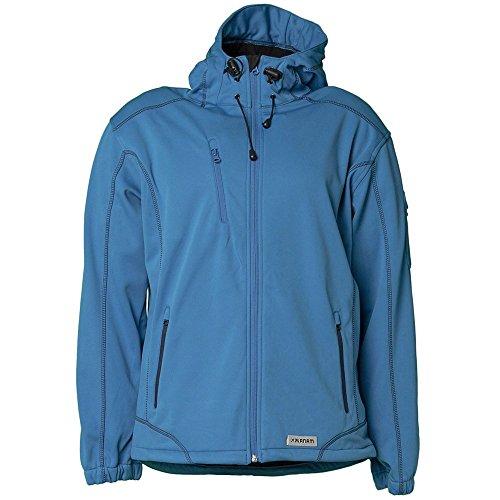 Planam Softshell Jacke Winter Spirit, Größe XL, kornblau, 3466056